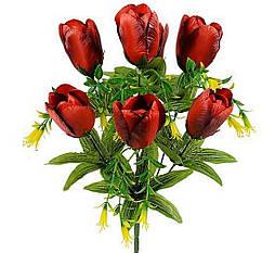 Букет тюльпан с добавками, 42см (24 в уп)