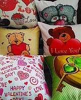 "Подушка на день Святого Валентина  ""Мишки"", фото 1"