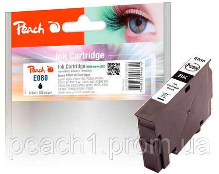 Картридж струйный, черный (Black ), Epson T0801 c новым чипом