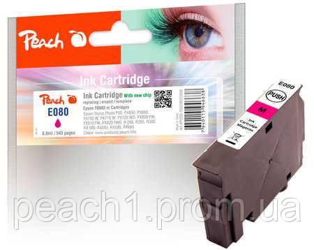 Картридж струйный, розовый (Пурпурный/Magenta), Epson T0803 c новым чипом