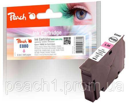 Картридж струйный, фото розовый (Photo Magenta), Epson T0806 c новым чипом
