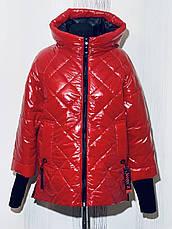 Женская деми куртка Батал, в расцветках, р.48-56, фото 3