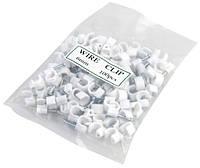 Клипсы 6мм(белые уп.100штук) из пластмассы