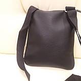 Стильная городская сумка планшет 27 23 8 см, фото 4