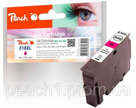 Картридж струменевий, рожевий (Пурпурний/Magenta), Epson T1813, No 18XL з новим чіпом