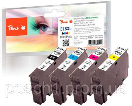 Набір картриджів (MultiPack)(BK,C,M,Y) Epson T1816, No 18XL з новим чіпом