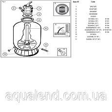 Пісочна фільтраційна установка Hayward PowerLine 81072 (10 м3/год, D511), фото 2