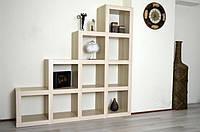 Мебельный стеллаж  Кубус Стойка, 4*4, 1442*1442*293 мм Клен
