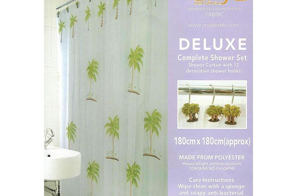 Штора для ванной 180х180 ARYA Palm Tree