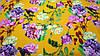 Желтая ткань супер-софт цветочный принт