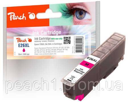 Картридж струйный, розовый (Пурпурный/Magenta), Epson T2633, No 26XL c новым чипом
