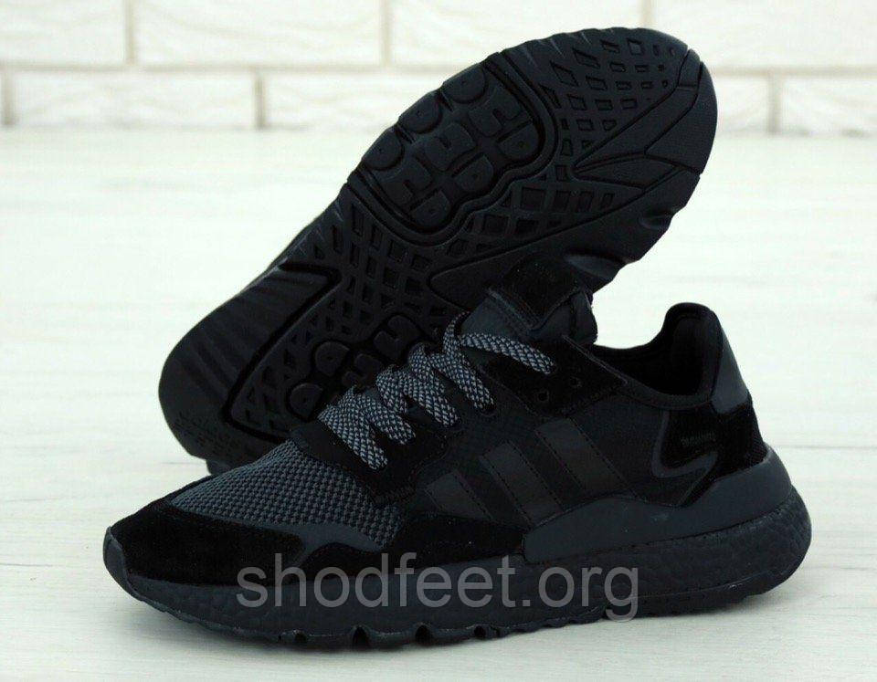 Мужские кроссовки Adidas Nite Jogger Boost Triple Black