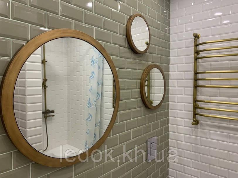 Зеркальное панно из трех зеркал в резной раме Kolo