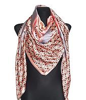 Шелковый платок Диана, 135*135 см, пудровый, фото 1