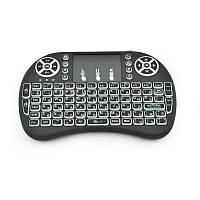 Беспроводная клавиатура i8 Mini 3-цветная подсветка Black