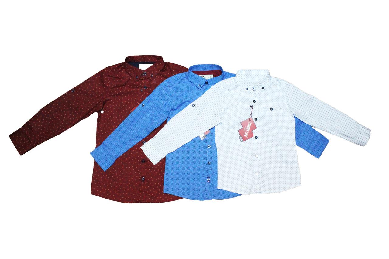 Рубашка детская фирменная отменное качество для мальчиков. Tommy life