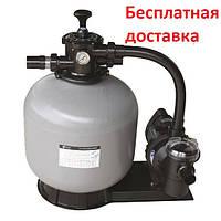 Фільтрувальна установка на піску Emaux FSF400, 6,48 м3/год, мотанная скловолоконна з верхнім підключенням