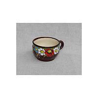 """Глиняная посуда """"Чашка для кофе малая Полянка"""""""