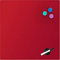 9614-06-a Доска стеклянная магнитно-маркерная 45х45 см, красная