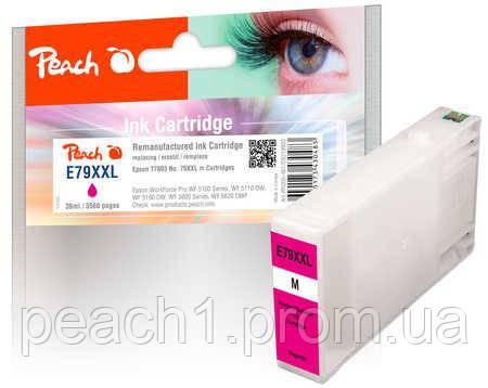 Картридж струйный, розовый (Пурпурный/Magenta) Epson T7893, No 79XXL с оригинальным чипом.