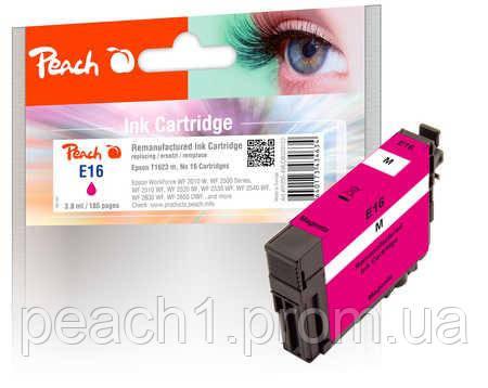 Картридж струменевий, рожевий (Пурпурний/Magenta) Epson T1623, No 16 з оригінальним чіпом.