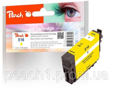 Картридж струйный, желтый (Yellow), Epson T1624, No 16 с оригинальным чипом.