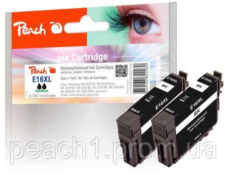 Набор картриджей (2x), черные (Black ), Epson T1631, No 16XL TwinPack с оригинальным чипом.