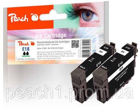 Набор картриджей (2x), черные (Black ), Epson T1801, No 18 TwinPack с оригинальным чипом.