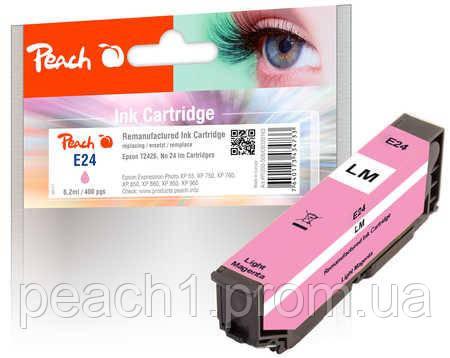 Картридж струменевий, фото рожевий (Photo Magenta), Epson T2426, No 24 з оригінальним чіпом.