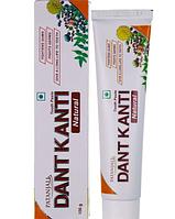 Лечебная травяная  аюрведическая зубная паста Дент Канти Натурал, Dent Kanti Toothpaste Natur, Patanjali,100 г