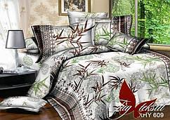 Постельное белье на полуторку, поликоттон абстрактный рисунок,  бамбук. 1,5-спальный комплект, 10 расцветок