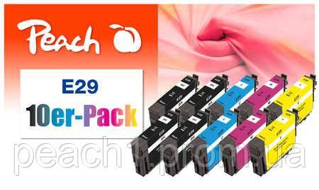 4x bk, 2x each c, m, y Epson No 29 Multi 10 Pack с оригинальным чипом.
