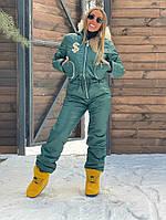 Комбинезон Doratti Dollar женский лыжный теплая куртка с мехом на капюшоне и штаны Gdor875, фото 1
