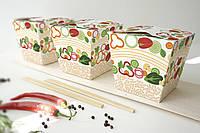 Упаковка большая  для риса/лапши/салата с универсальным дизайном