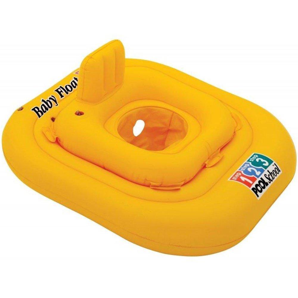 Надувний круг-плотик для купання дітей Intex 56587 Жовтий