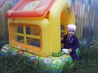 Игровой центр надувной Intex 57429 Домик с надувными игрушками