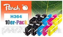 4x bk, 2x each c, m, y HP No 364 Multi 10 Pack с новым чипом