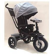 Велосипед трехколесный TURBOTRIKE M 4060HA-19T серый с поворотным сиденьем Гарантия качества Быстрота доставки, фото 5