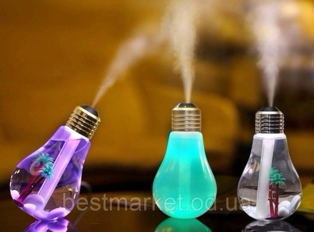 Увлажнитель Воздуха Лампочка с Led Подсветкой Bulb Humidifier Арома Лампочка с USB