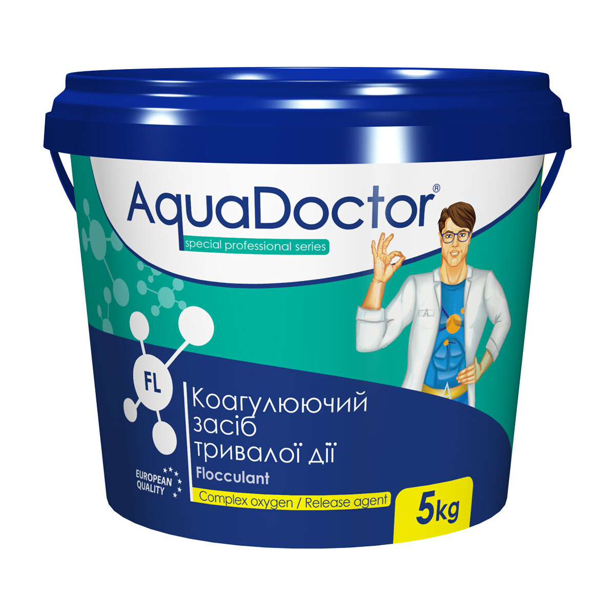 Флокулянт гранульований - засіб від помутніння, AquaDoctor, 5кг