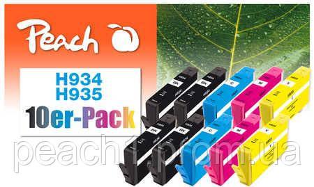 4x bk, 2x each c, m, y HP No 934/935 Multi 10 Pack с новым чипом