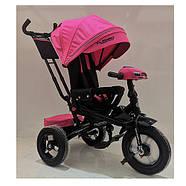 Велосипед трехколесный TURBOTRIKE M 4060HA-6 розовый с поворотным сиденьем, фото 2