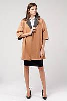 Женское шерстяное пальто с запахом