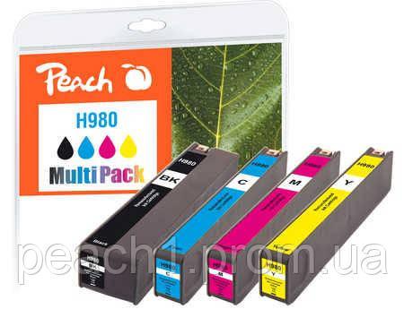 Набор картриджей (MultiPack) (BK,C,M,Y) HP No 980 с новым чипом