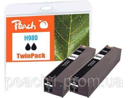 Набір картриджів (2x), чорне (Black ), HP D8J10A, No 980 TwinPack з оригінальним чіпом.