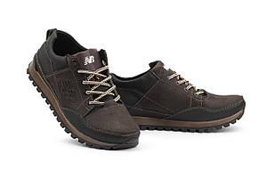 Мужские кроссовки кожаные весна/осень черные-коричневые Anser 95