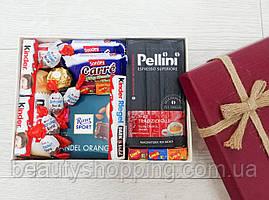 """Подарочный набор сладостей в коробке """"Микс Сладостей и кофе"""""""
