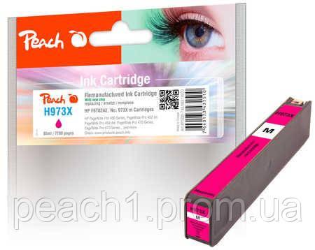 Картридж струйный, розовый (Пурпурный/Magenta) HP F6T82AE, No 973X с новым чипом