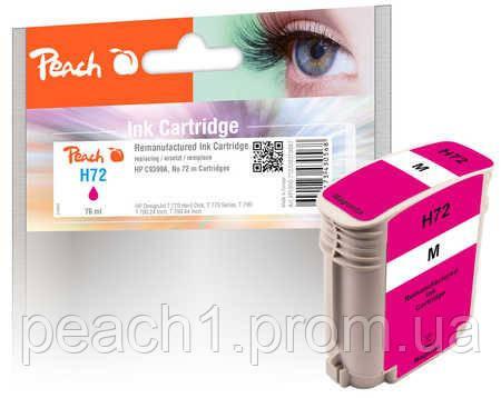 Картридж струйный, розовый (Пурпурный/Magenta) HP C9399A, No 72 с новым чипом