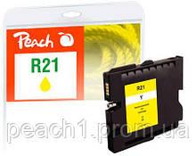 Картридж струйный, желтый (Yellow), Ricoh GC21Y, 405535, ink level chip